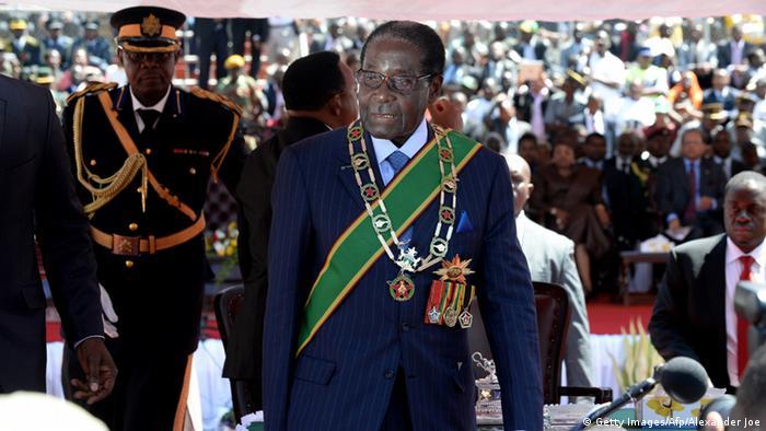 Amtsvereidigung Robert Mugabe 22.08.2013 (Getty Images/Afp/Alexander Joe)