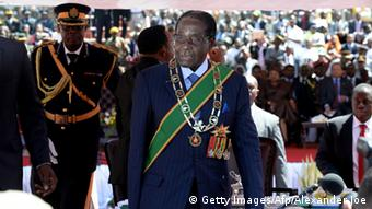 Robert Mugabe at his inauguration in 2013