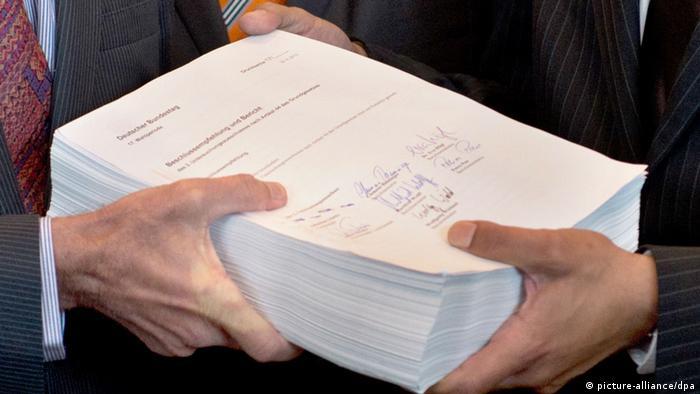 Rund 1400 Seiten umfasst der 2013 vorgelegte Abschlussbericht des ersten NSU-Untersuchungsausschusses