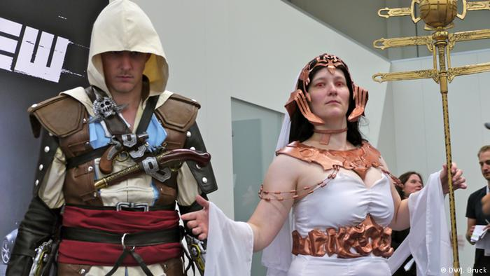 Cosplayer Assassin's Creed (photo: Jan Bruck/DW)