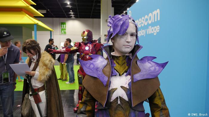 Cosplayer Guild wars 2 (photo: Jan Bruck/DW)
