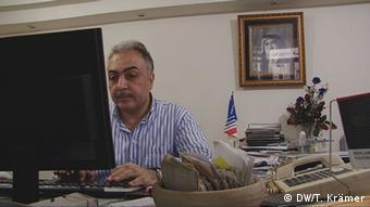 Gaza Streifen Nabil Shurafa muss Tickets stornieren Bild: DW/Tania Krämer, DWTV