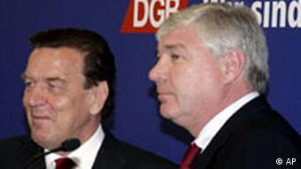 Gerhard Schröder beim DGB Michael Sommer