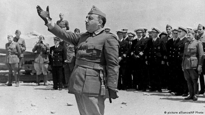 Francisco Franco addresses naval forces