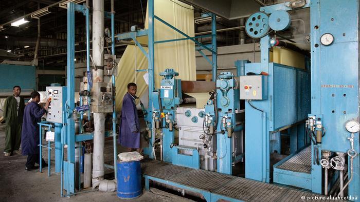 Worker at a textile factory in Kombolcha, Ethiopia (Photo Thomas Schulze)
