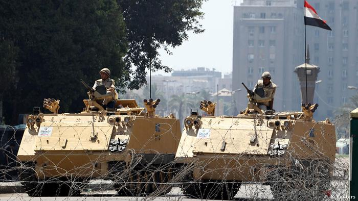 Egyptian soldiers with armored vehicle. Photo Reuters