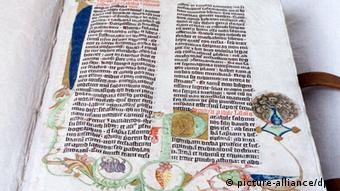 Bibla origjinale e shtypur nga Gutenbergu