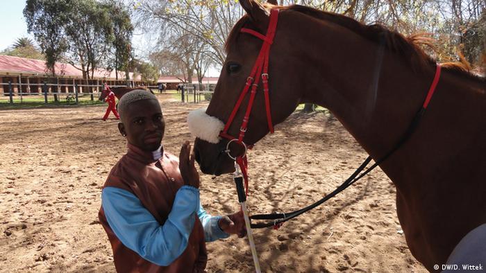 Jockey S'manga Khumalo (Photo: DW/Dagmar Wittek)