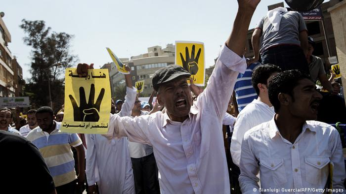 Pro-Mursi-Demonstranten in Kairo am 23. August 2013 Foto: GIANLUIGI GUERCIA/AFP/Getty Images