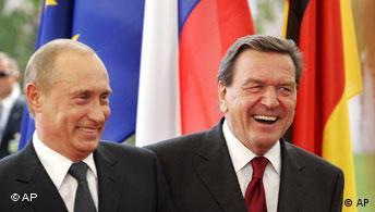 Владимир Путин и Герхард Шрёдер