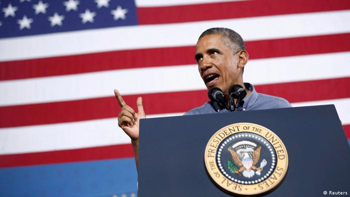 US-Präsident Barck Obama vor US-Flagge (Foto: Reuters)