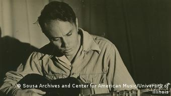 Harry Partch and adapted guitar Collection title: Harry Partch Estate Archives, 1918-1991 Date: 1941 Sousa Archives and Center for American Music University of Illinois at Urbana-Champaign Harry Partch Estate Archives, 1918-1991