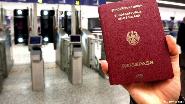 Немецкий загранпаспорт
