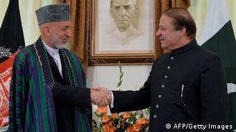 Hamid Karsai und Nawaz Sharif in Islamabad (Foto: AFP/Getty Images)