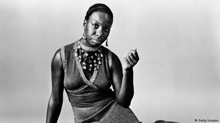 American pianist and jazz singer Nina Simone reclining on the floor circa 1968. Simone, whose deep, raspy voice made her a unique jazz figure and later helped chronicle the civil rights movement, died in her sleep on April 21, 2003 of natural causes after a long illness. She was 70. Copyright: Getty Images)