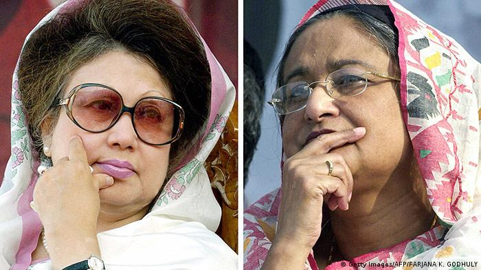 Khaleda Zia and Sheikh Hasina (Getty Images/AFP/FARJANA K. GODHULY)