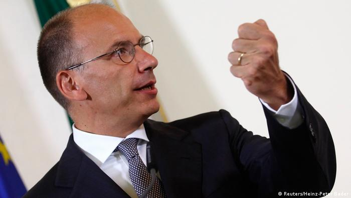 Italy's Prime Minister Enrico Letta addresses a news conference in Vienna August 21, 2013. REUTERS/Heinz-Peter Bader (AUSTRIA - Tags: POLITICS)