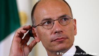 Italy's Prime Minister Enrico Letta listens during a news conference in Vienna August 21, 2013. REUTERS/Heinz-Peter Bader (AUSTRIA - Tags: POLITICS)