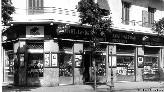 Historical photo of the bookshop Lehnert & Landrock in Cairo, Copyright: Lehnert & Landrock