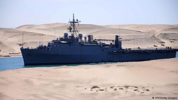 ناو جنگی آمریکا در کانال سوئز