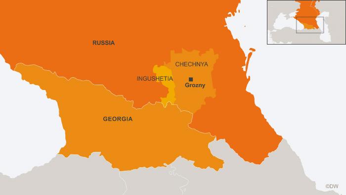 27.08.2013 DW online Karte Russland Georgien Grosny eng