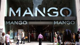 Центральный вход в магазин Mango