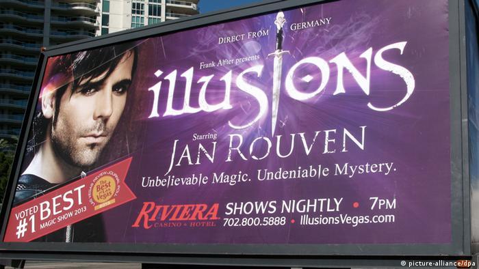 Plakat von Jan Rouven in Las Vegas