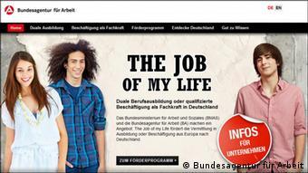 Screenshot web stranice Job of my life.