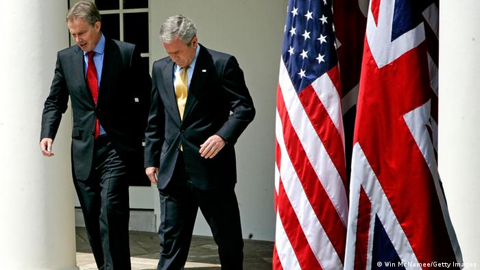 George W. Bush and Tony Blair in 2007 in Washington at the White House (Win McNamee/Getty Images)