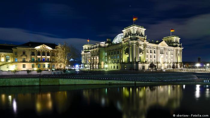 German Bundestag parliament building in Berlin