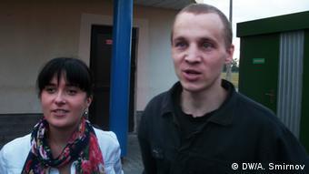 Дмитрий Дашкевич после освобождения с супругой Анастасией