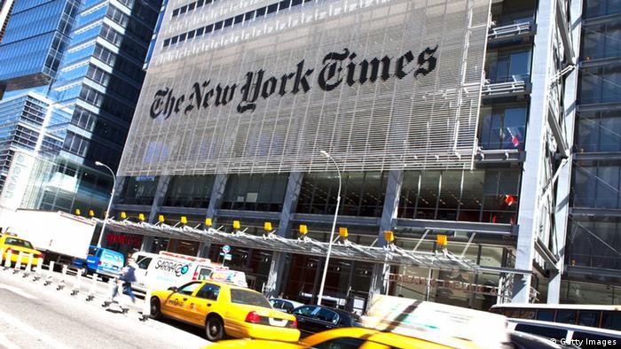 The New York Times Gebäude Logo Redaktion