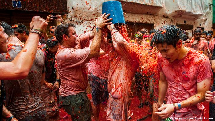 Bildergalerie Tomatina in Spanien (Getty Images/David Ramos)