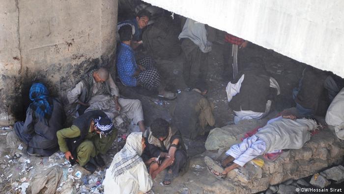 Drogenabhängige im Zentrum von Kabul