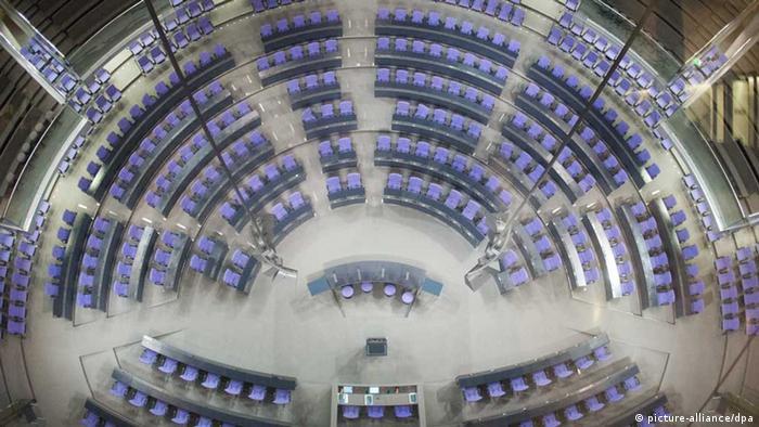 Salão plenário do Bundestag, o Parlamento alemão