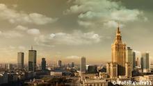 Polen Warschau Stadtansicht Skyline