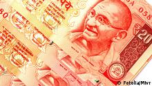 © Mivr - Fotolia.com Indian bank notes of twenty rupees