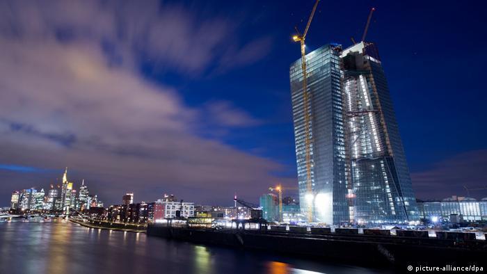 La nueva sede del Banco Central Europeo, en Fráncfort.
