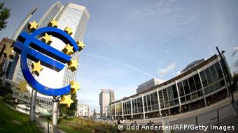 A sede do Banco Central Europeu em Frankfurt