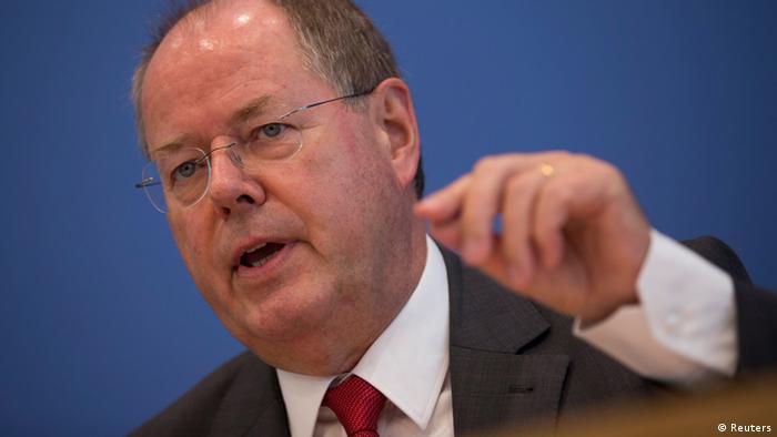 SPD Kanzlerkandidat Peer Steinbrück Berlin Vorstellung 100 hundert Tage Programm Bundespressekonfernz Bundes PK - 0,,17053287_303,00