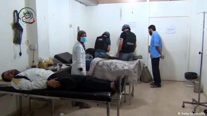 Syrien UN-Kontrolleure überprüfen Vorwürfe zu Giftgasangriff (Getty Images/Afp)