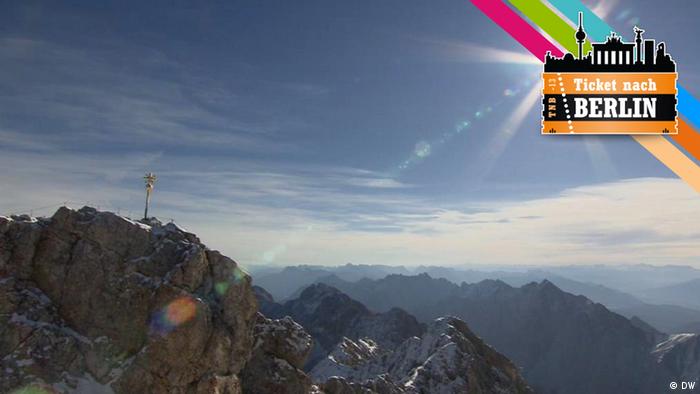 Blick auf den Gipfel der Zugspitze.