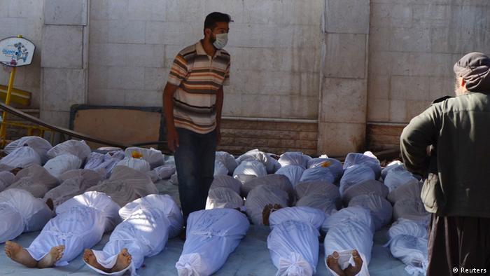 Syrien mutmaßlicher Giftgaseinsatz in Ghouta (Reuters)