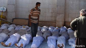 Opfer des Giftgasangriffes in Ghouta, 21.8. 2013 (Foto: REUTERS)
