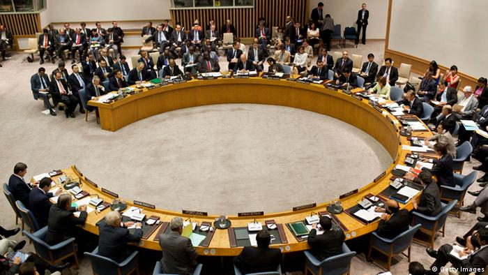 A meeting of the United Nations (UN) Security Council Photo by Andrew Burton/Getty Images