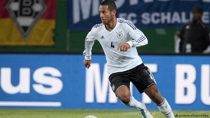 Germany's Dennis Aogo controls the ball during the international friendly soccer match Germany vs Netherlands at Imtech Arena in Hamburg, Germany, 15 November 2011. Photo: Christian Charisius dpa/lno