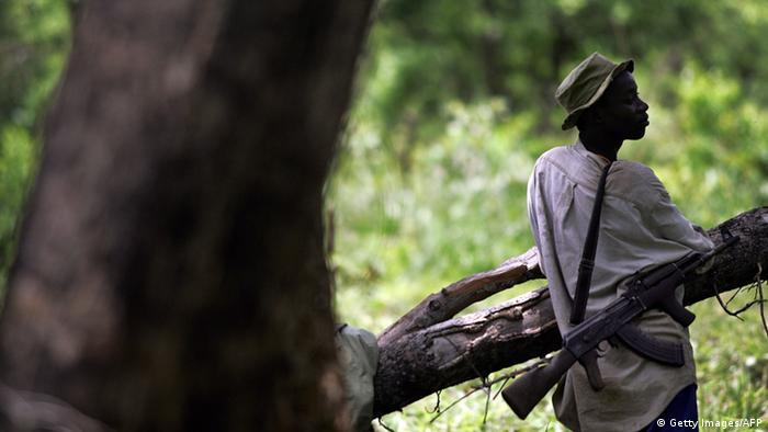 LRA Rebellen im Garamba Nationalpark Kongo TONY KARUMBA/AFP/Getty Images
