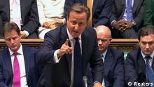 David Cameron / Parlament / Unterhaus / Syrien-Konflikt