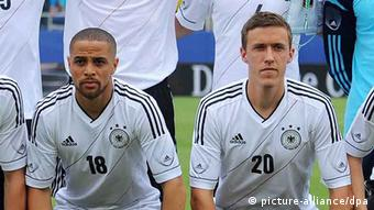 Sidney Sam and Max Kruse both debuted in German's friendly with Ecuador in May 2013. Photo: dpa