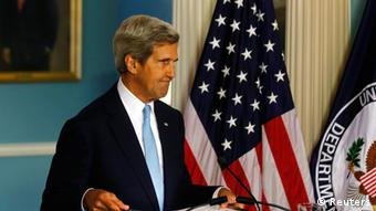 U.S. Secretary of State John Kerry speaks about the situation in Syria at the State Department in Washington, August 30, 2013. (Photo: REUTERS/Larry Downing)